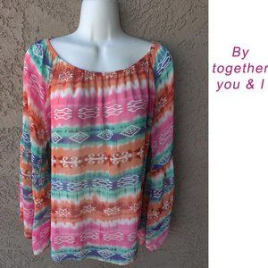 By Together You & I Sheer Top Sz Large